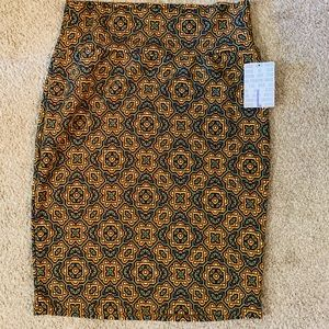 Lularoe new fall printed Cassie pencil skirt sz L